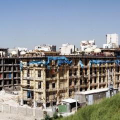 نمایی از جنوب شرقی بنا در حال ساخت